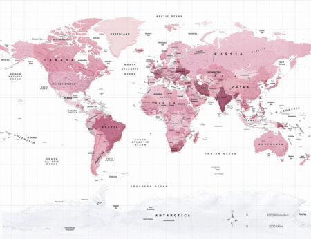 Fototapeten Weltkarte Pink Traveller Beispiel | 3d tapete