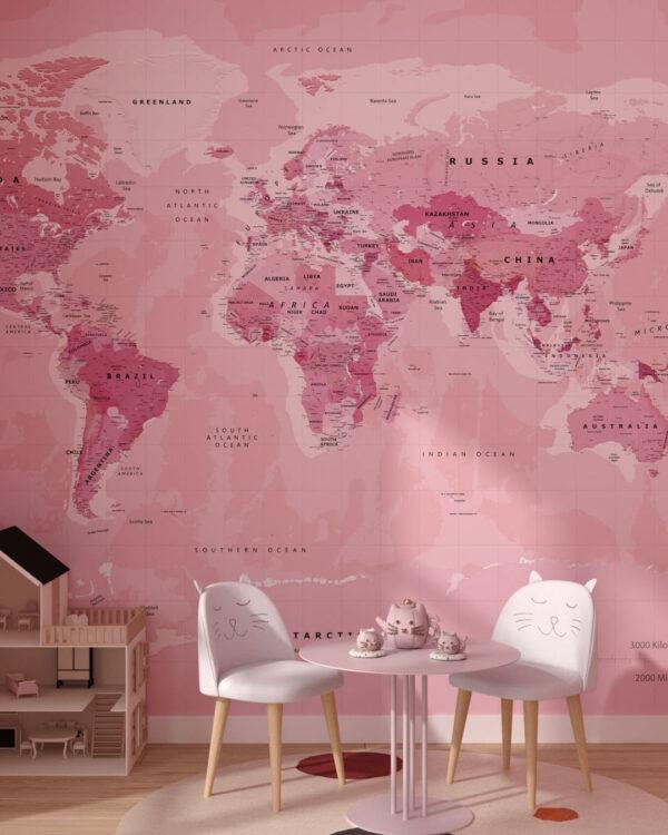 Designer Fototapeten Weltkarte Love World   3d tapete