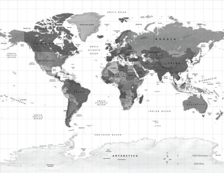 Fototapeten Weltkarte Graue Erde Beispiel | 3d tapete