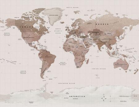 Fototapeten Caramel Map Beispiel | fototapeten 3d