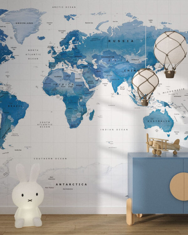 Designer Fototapeten Blue World | 3d tapete