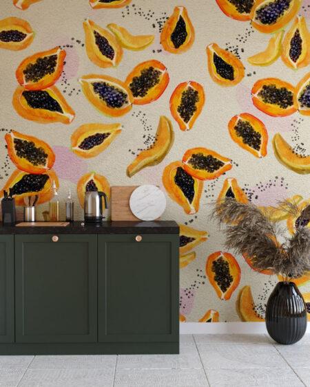 Design Fototapeten Fruity Pawpaw | fototapete natur