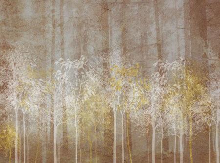 Design Fototapeten Sylvicult Forest Beispiel braun | 3d fototapete