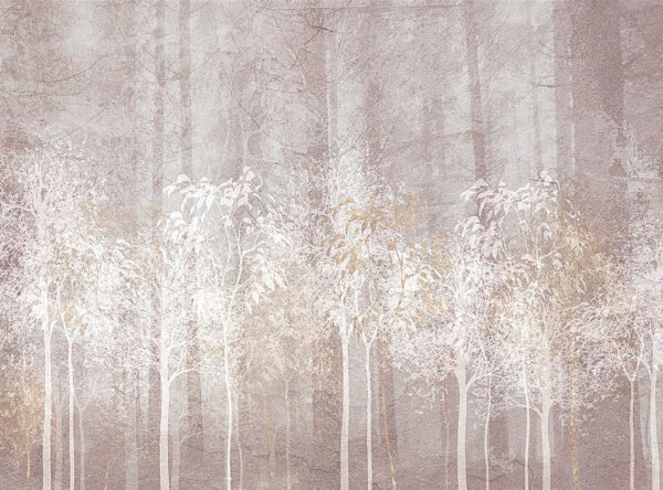 Design Fototapeten Sylvicult Forest Beispiel grau | 3d fototapete