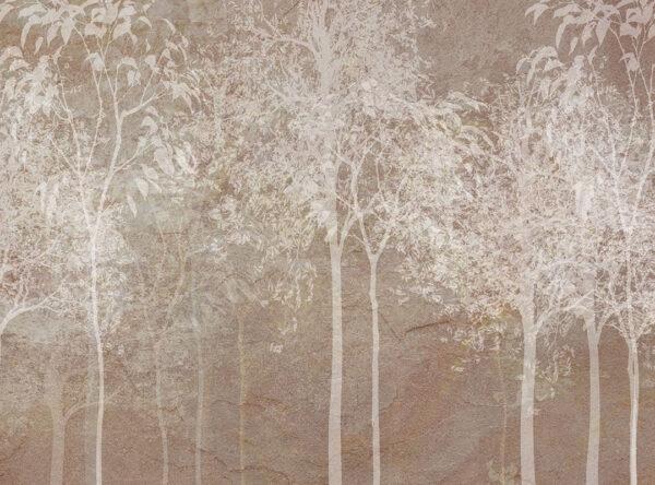 Design Fototapeten Sylvicult Cocoa Beispiel weiße Bäume   fototapete natur