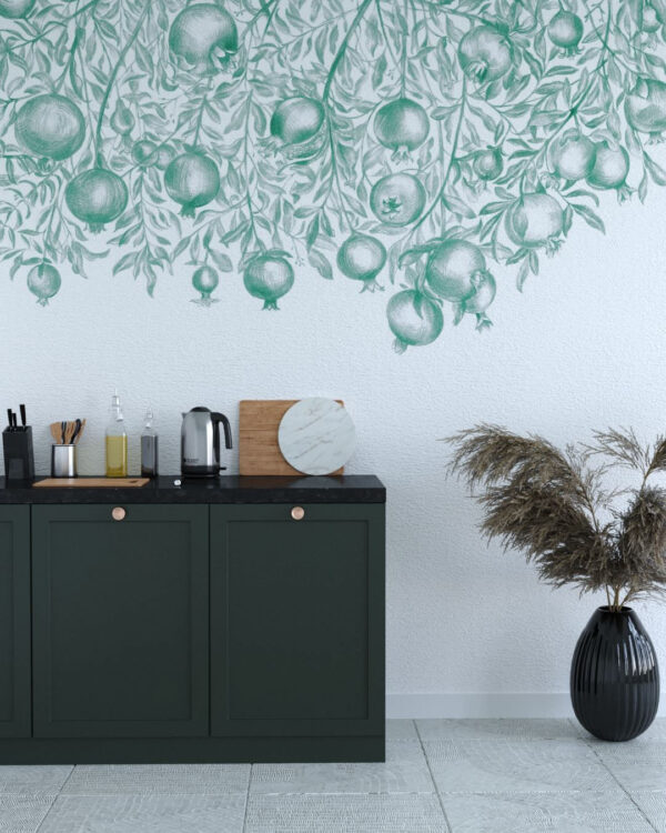 Kaufen Designer Fototapeten Garnet Green | 3d tapete küche