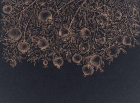 Designer Fototapeten Garnet Black Beispiel schwarz | 3d wandtapete