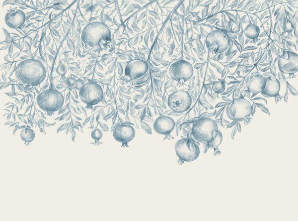 Fototapeten Garnet Black Beispiel Blau | 3d wandtapete