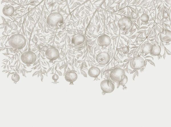 Designer Fototapeten Garnet Black Beispiel grau | 3d wandtapete