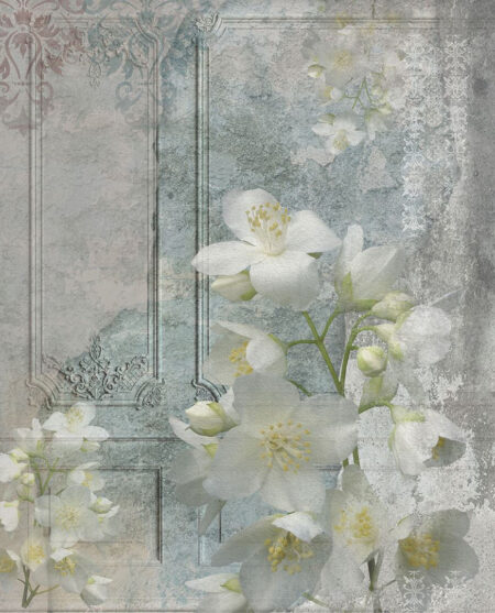 Kaufen Designer Fototapeten Venice Vintage flower Beispiel mit Blumen | fototapeten 3d