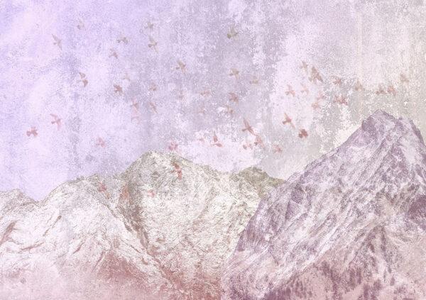 Design Fototapeten Freedom Mountains Beispiel rosa | fototapete natur