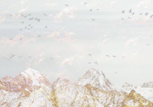 Design Fototapeten Freedom White Mountains Beispiel blau | wand tapeten