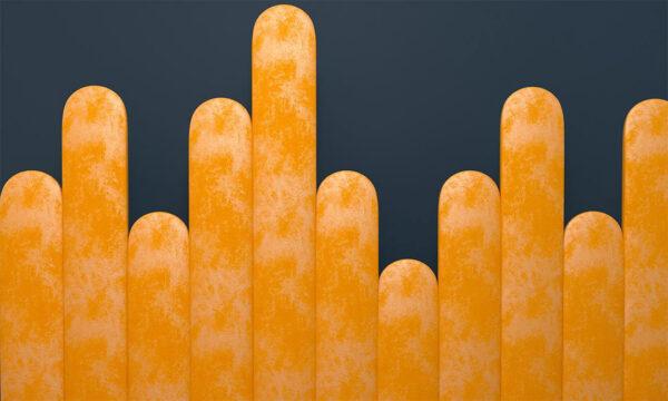 Fototapeten Equalizer Gelb Crankle Beispiel Blauer Hintergrund | 3d tapete schlafzimmer