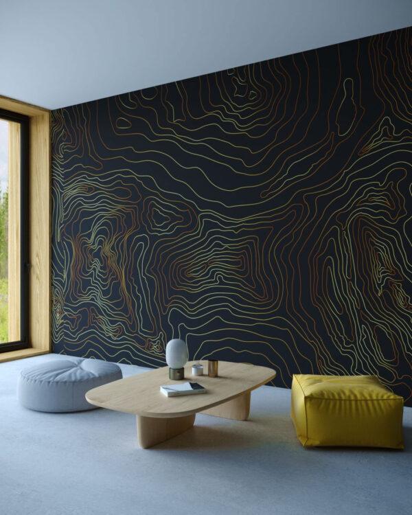 Kaufen Designer Fototapeten Linear Black | 3d tapeten