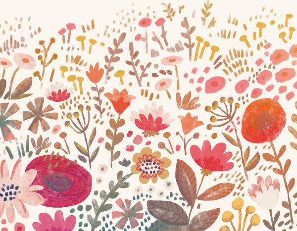 Kaufen Designer Fototapeten Natura Beispiel rosa Farbverlauf | 3d tapete
