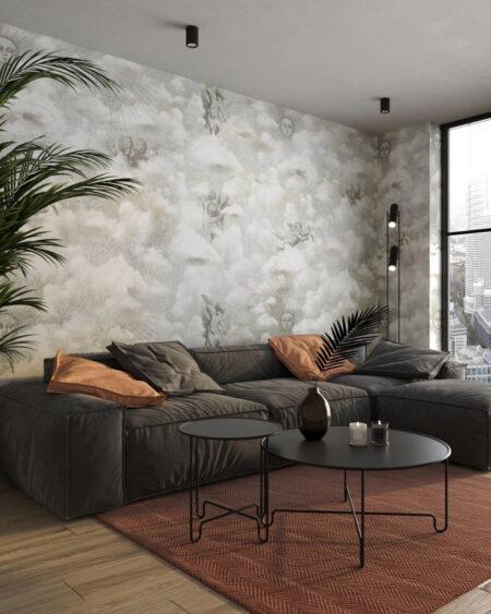 Kaufen Designer Fototapeten Cupid Grey | 3d tapeten