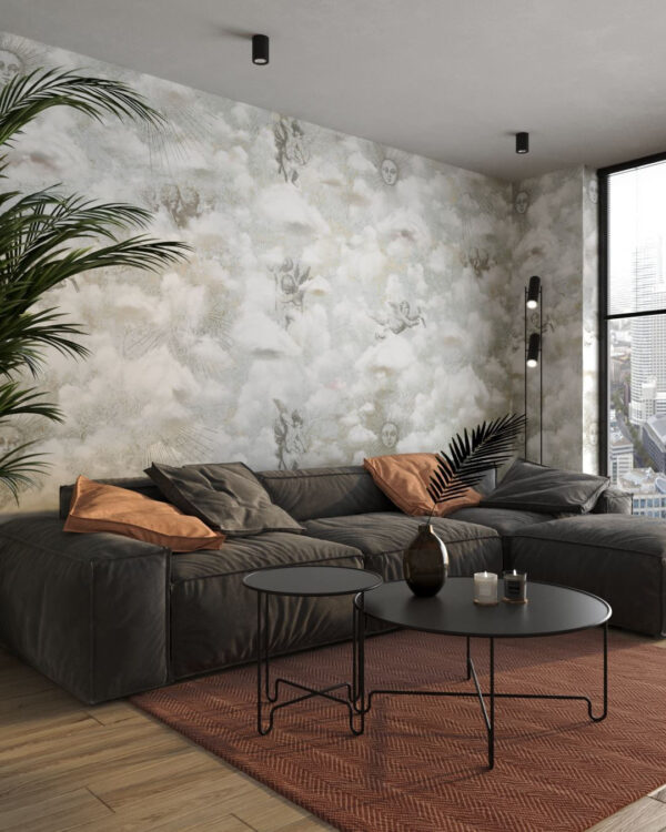 Kaufen Designer Fototapeten Cupid Grey   3d tapeten