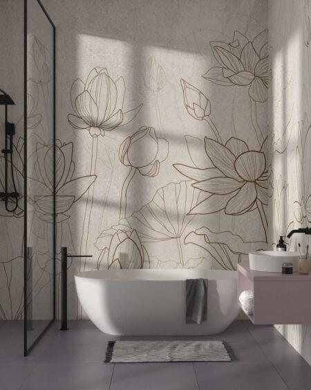 Fototapeten Water Lilly | 3d tapete badezimmer