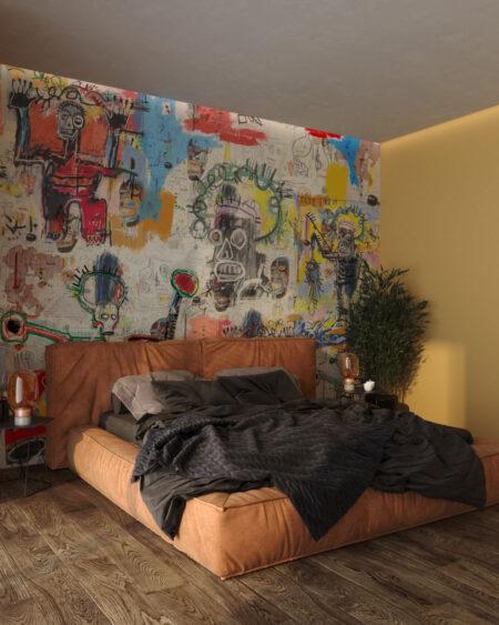 Designer Fototapeten Graffiti Saints | 3d tapete schlafzimmer
