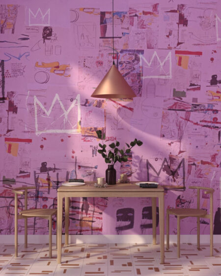 Kaufen Designer Fototapeten Graffiti Pink | 3d tapete