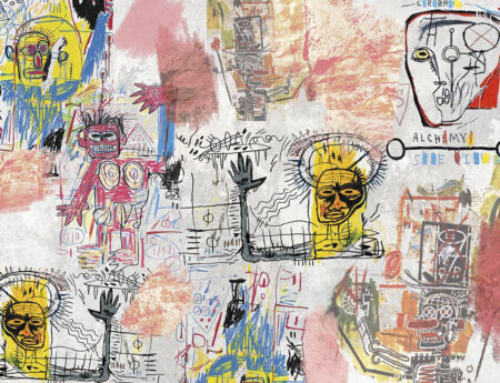 Designer Fototapeten Graffiti Bright Beispiel grau | 3d tapete
