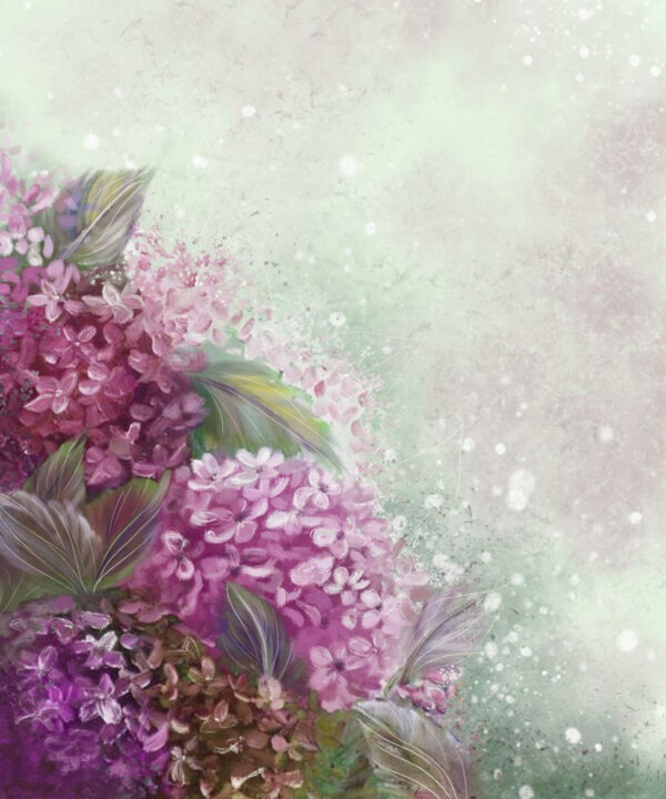 Design Fototapeten Bloom Hydrangea Beispiel Grün | fototapete natur