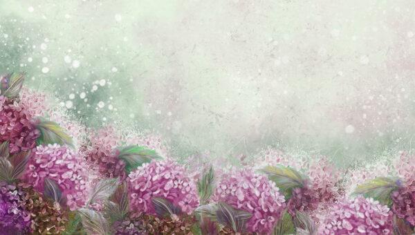 Design Fototapeten Bloom Hydrangea Beispiel Grün breite Option | fototapete natur