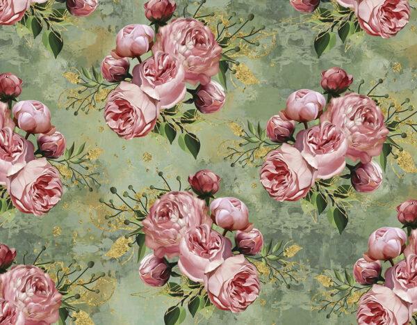 Designer Fototapeten Bloom Green Beispiel große Blumen | fototapete natur