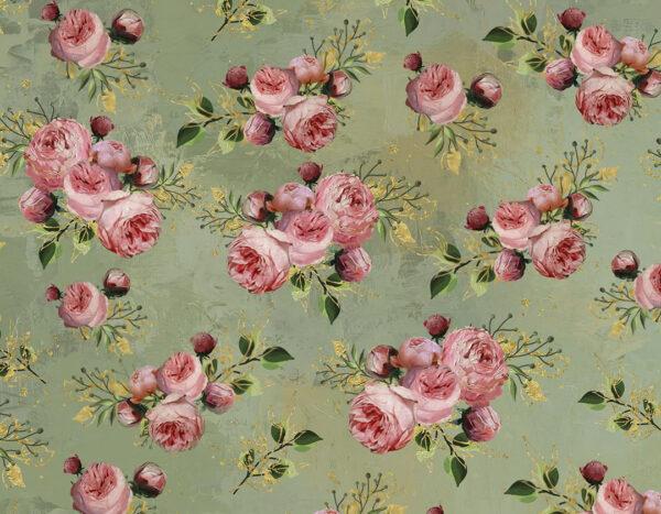 Designer Fototapeten Bloom Green Beispiel kleine Blumen | fototapete natur