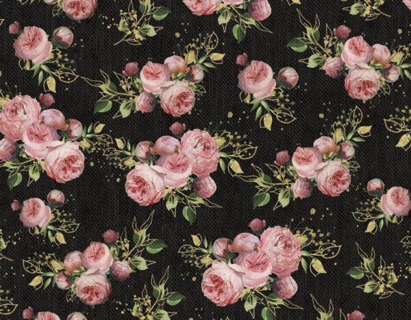 Design Fototapeten Bloom Pattern Beispiel dunkel viele Rosen | fototapete natur
