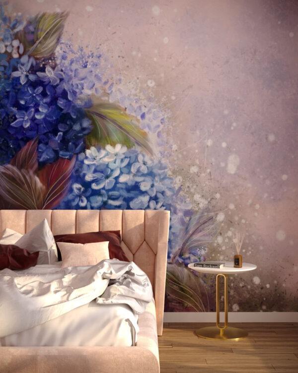 Design Fototapeten Bloom Hydrangea Blue   fototapete natur