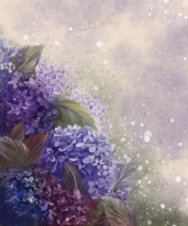 Design Fototapeten Bloom Hydrangea Blue Beispiel wenige Blumen   fototapete natur