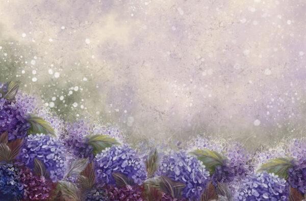 Design Fototapeten Bloom Hydrangea Blue Beispiel viele Blumen   fototapete natur