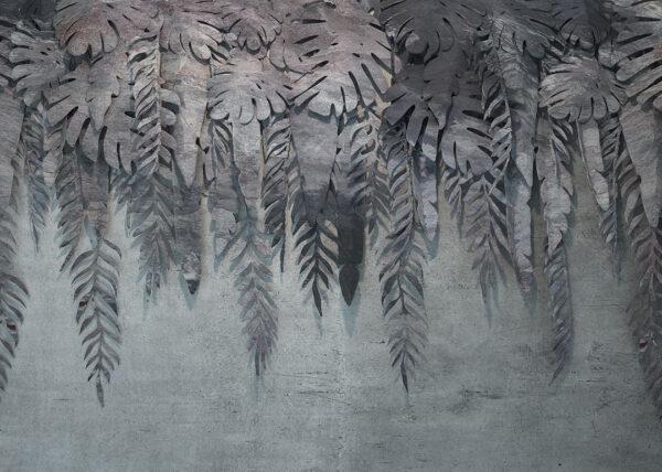 Design Fototapeten 3D Forest Soft Beispiel grau | fototapete natur
