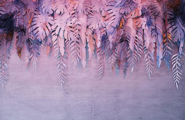 Design Fototapeten 3D Forest Soft Beispiel lila | fototapete natur
