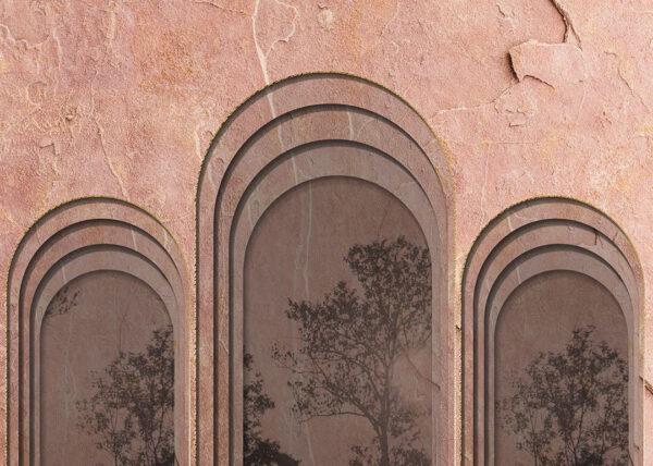 Design Fototapeten Glyph Mountains Beispiel rosa | fototapete natur