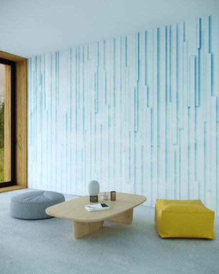 Kaufen Designer Fototapeten Glyph Blue   3d tapeten