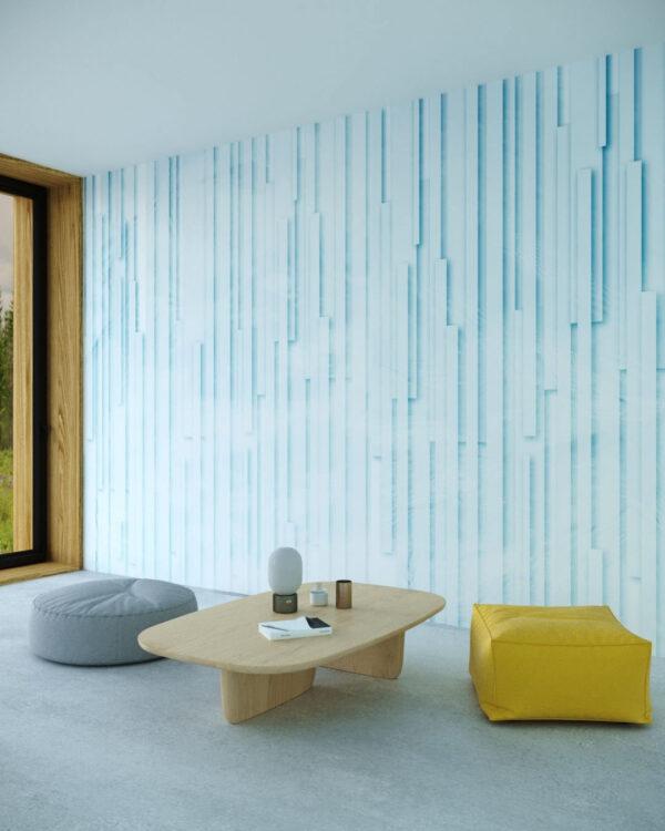Kaufen Designer Fototapeten Glyph Blue | 3d tapeten