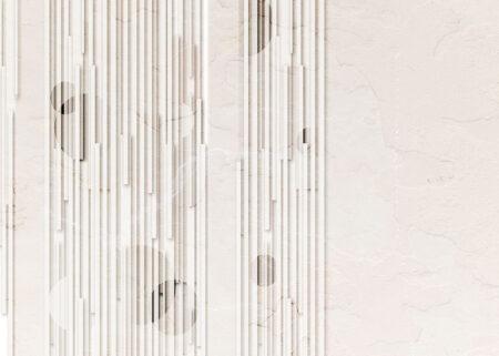 Kaufen Designer Fototapeten Glyph Beige Beispiel Weiß   3d tapete