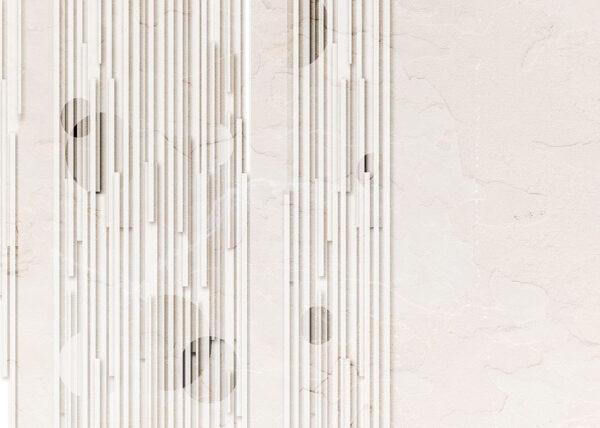 Kaufen Designer Fototapeten Glyph Beige Beispiel Weiß | 3d tapete