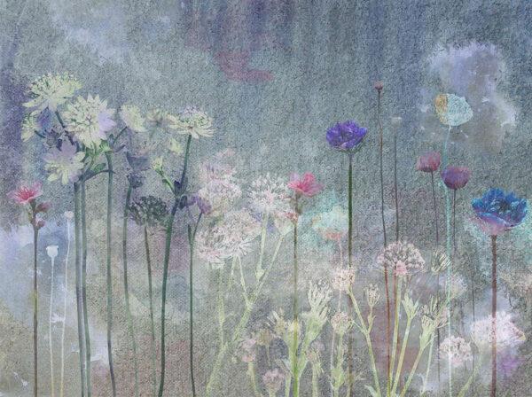 Design Fototapeten Watercolor Field Beispiel   fototapete natur