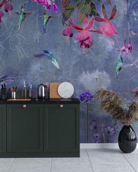 Kaufen Designer Fototapeten Watercolor Hummingbird   3d tapete küche
