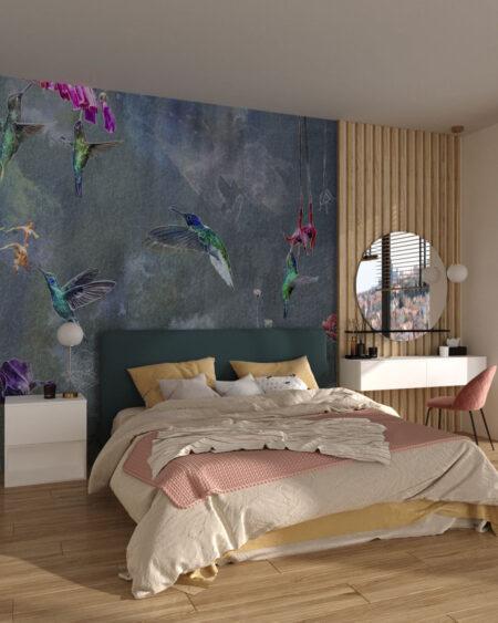 Designer Fototapeten Watercolor Birds   3d tapeten schlafzimmer