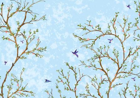 Kaufen Designer Fototapeten Duende Beispiel blauer Himmel | 3d tapeten