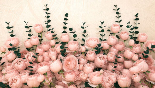 Design Fototapeten 3D Rosa Inglesa Sapphirine Beispiel Weiß | fototapete natur