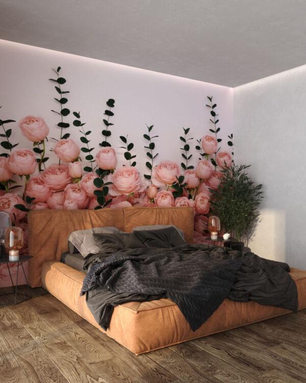 Designer Fototapeten 3D Rosa Inglesa White | 3d tapete