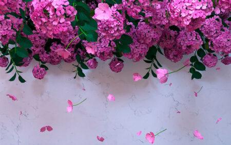 Kaufen Designer Fototapeten 3D Ortensie Beispiel Immergrün | 3d tapeten