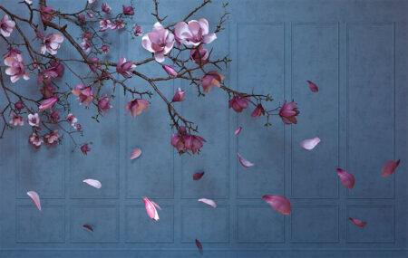 Design Fototapeten Autunno Sapphirine Beispiel Hellblau | fototapete natur