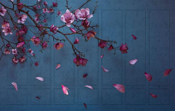 Design Fototapeten Autunno Sapphirine Beispiel blau | fototapete natur