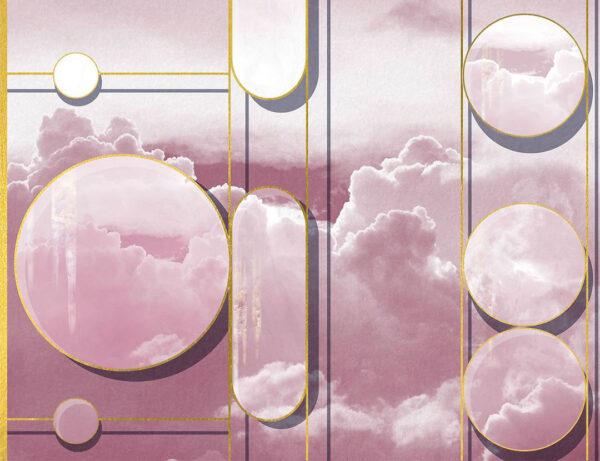 Kaufen Fototapeten Foliage Sky Beispiel rosa Himmel | 3d wandtapete